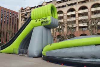 xtrem jump, sport extreme gonflable, saut 6 m