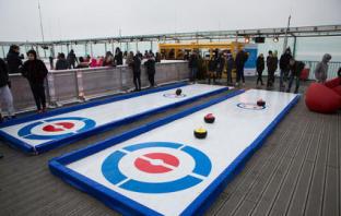 piste de curling événementiel