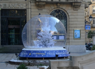 bulle de noel decorative