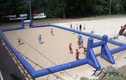 terrain de rugby sur le sable